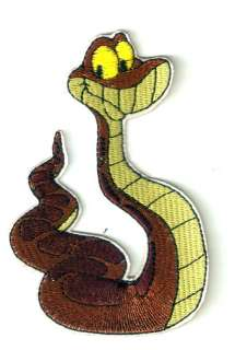 Kaa snake in Jungle Book Disney Embroidered Iron Sew On