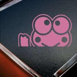 KEROPPI Pink Decal HELLO KITTY WAVING Truck Window Pink