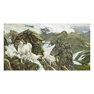The High Life   Dall Sheep Canvas Giclee Edition: Home & Kitchen