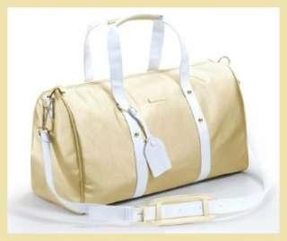 Versace Weekender Bag Large Duffle Travel Luggage Gold + Garment Tote