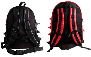 Red Black Spike Punk School Backpack / Mans & Womens Spiky College