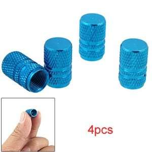 Amico 4Pcs Dodger Blue Alloy Tyre Tire Valve Stem Caps for