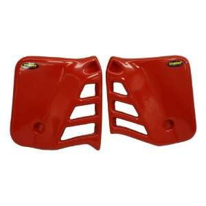 Maier Red Radiator Scoops Honda Dirt Bike Automotive