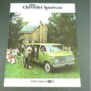 1971 71 Chevrolet Chevy SPORTVAN Van BROCHURE GE10 GS20
