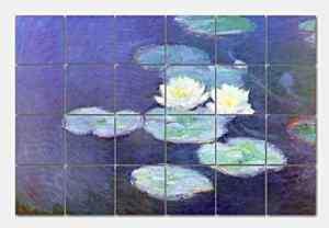 MONET/WATER LILIES Ceramic Tile Mural 48x32