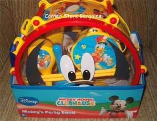 10Pc Musical Instruments SET Disney Mickey Mouse Club House Party Band