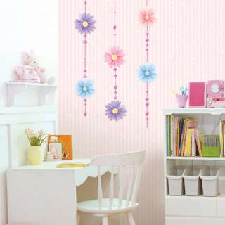 Crystal Flowers Adhesive Wall STICKER Removable Decal