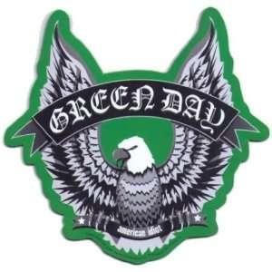 Green Day American Idiot Eagle Logo Car Magnet Toys