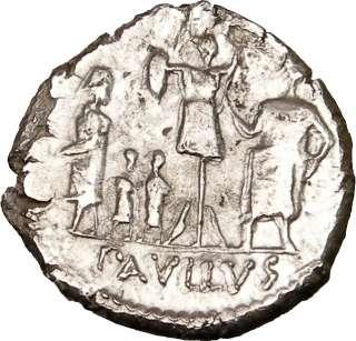Roman Republic Aemilius Paullus w Perseus Silver Ancient Rare Roman