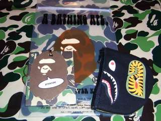 Bathing APE BAPE Coin pouch case shark Black bag purse
