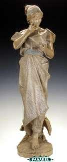 Art Nouveau Goldscheider Terracotta Maiden Sculpture
