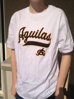 Las Aguilas Cibaeñas White T shirt.New. Beisbol Dominicano