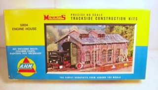 AHM vintage HO Train Accessory Model Kits GRUSOM CASKET Engine House