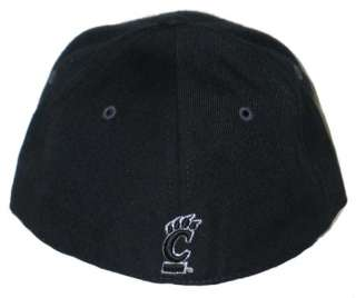 CINCINNATI BEARCATS BLACK VORTEX FITTED HAT/CAP 7 3/8