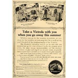 1913 Ad Victor Victrola Talking Machine Nipper Dog   Original Print Ad
