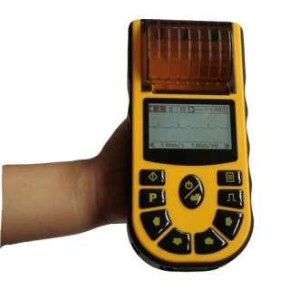 Hand held single channel digital ECG EKG machine 6 Language versions