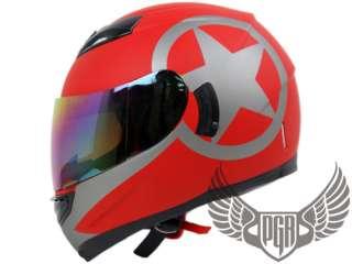 Dual Visor Full Face Motorcycle Helmet Matte Pink ~ M