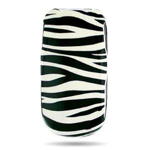 WIRELESS CENTRAL Brand Hard Snap on Shield With WHITE BLACK ZEBRA