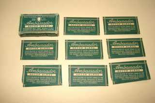 Vintage Germany Shaving Razor Blades AMBASSADOR   Box