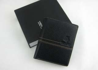 VD Polo Mens genuine leather vertical wallet upright
