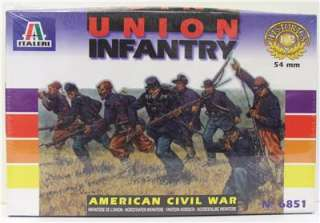 ITALERI UNION INFANTRY AMERICAN CIVIL WAR MODEL #6851