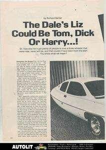 1975 Dale 3 Wheel Microcar Car Article Streamline Liz Carmichael