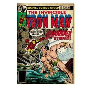 Comics Retro The Invincible Iron Man Comic Book Cover #120; The Sub