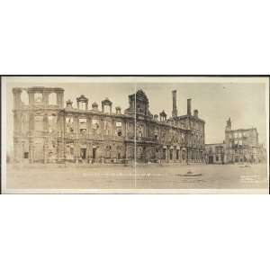 Photo Hotel du Ville or City Hall of Rheims, France after bombardment