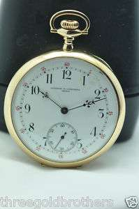 Vacheron Constantin 14K Solid Yellow Gold Pocket Watch