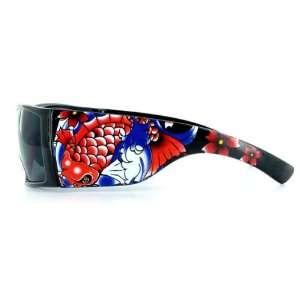 Koi Girl Hip Hop Urban Fashion Sunglasses   Black