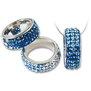 Ashley Arthur .925 Silver Montana Crystal Ring Pendant