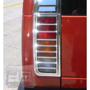 Hummer H2 Triple Chrome Plated Tail Light Covers (Fits 2003 2009 SUV
