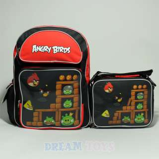 Angry Birds Lenticular 16 Backpack and Lunch Bag Set Boys Girls