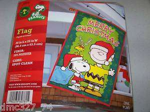CHRISTMAS Peanuts Snoopy Charlie Brown FULL SIZE FLAG