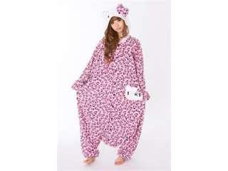 Sanrio Hello Kitty Costume Kigurumi Japanese pajamas for pink color