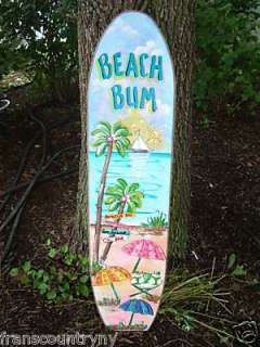 Tropical Surfboard Kids Boys Girls Room Sign Home Decor