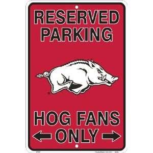 Arkansas Razorbacks, Hog Fans Only, Parking Sign