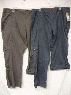 6H NEW Womens UNIONBAY Cargo Capri Pants 18 22 NWT