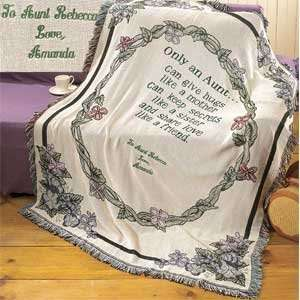 Personalized Only An Aunt Afghan