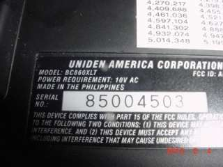 Uniden Bearcat BC860XLT 100 Channel 12 Band Scanning Radio Twin Turbo