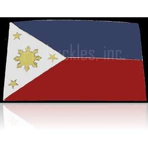 Philippines Flag Square Belt Buckle