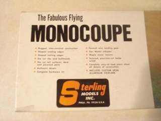 ORIGINAL STERLING MONOCOUPE C/L MODEL AIRPLANE KIT ** EXC