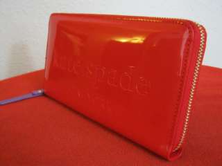 NWT KATE SPADE BIG APPLE NEDA CLUTCH WALLET CHERRY