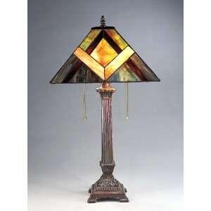 Neo Classic Geometric Tiffany Style Table Desk Lamp