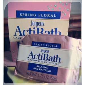 Jergens ActiBath Spring Floral Scented Carbonated Bath