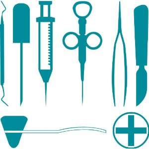 Medical Tool Set Removable Wall Sticker