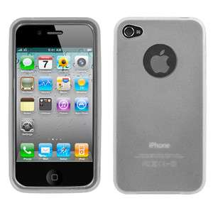 Semi Transparent White Candy Skin Cover (Rubberized) For Apple iPhone