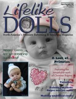 Lifelike Dolls Reborn Doll OOAK Magazine Aug/Sept 09