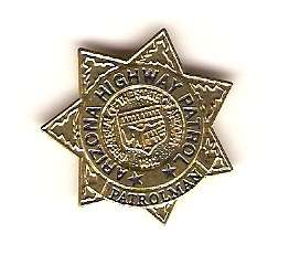 ARIZONA state highway patrol mini badge HAT PIN