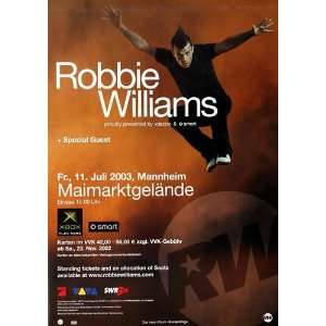 Robbie Williams   Escapology 2003   CONCERT   POSTER from